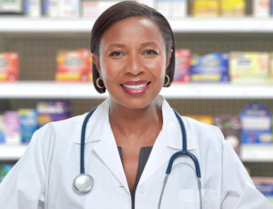 happy looking pharmacist